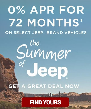 4 Jeep Models with 0% for 72 months!