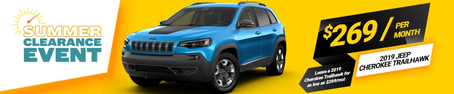 2019 Jeep Cherokee Trailhawk Lease Special