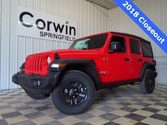 New 2018 Jeep Wrangler UNLIMITED SPORT 4X4 Sport Utility for sale in Springfield, MO
