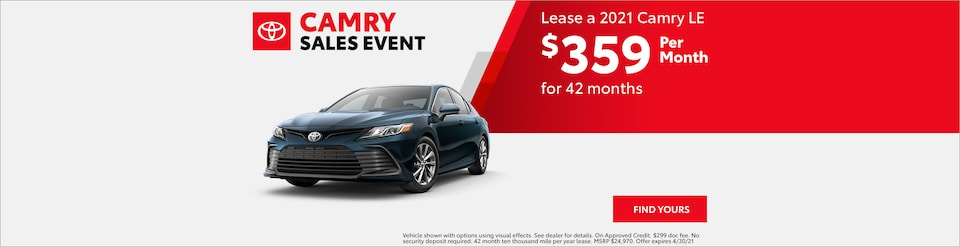 2021 Camry LE Lease