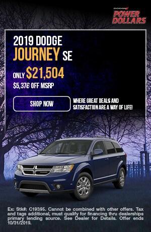 October | 2019 | Dodge | Journey | Discount