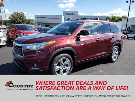 2015 Toyota Highlander Limited Platinum V6 AWD  V6 Limited