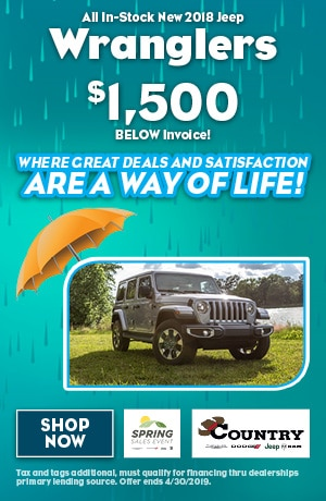 April 2019 Jeep Wrangler Lease Special