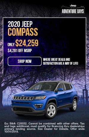 October | 2020 | Jeep | Compass | Discount