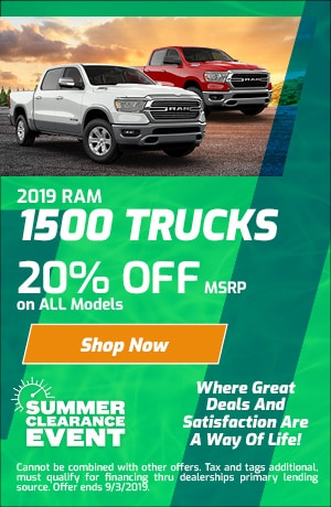 August Ram 1500 20% Off Special
