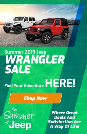 August 2019 Jeep Wrangler Special