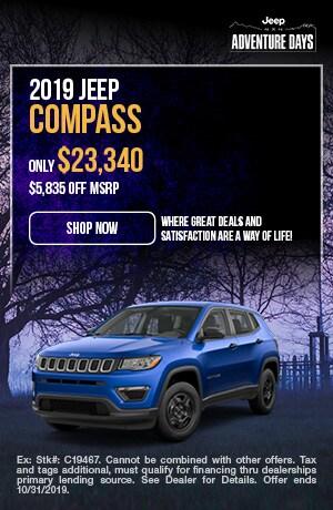October | 2019 | Jeep | Compass | Discount