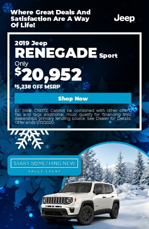 January | 2019 Jeep Renegade | Discount