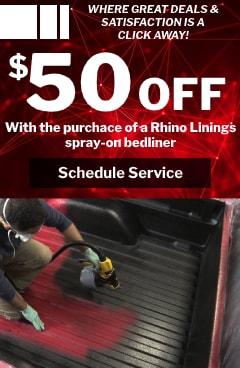 $50 off Rhino Linings