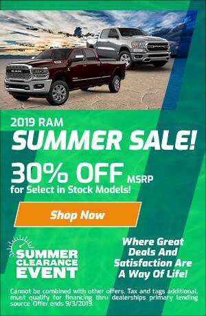 August 2019 RAM Summer Sale Special