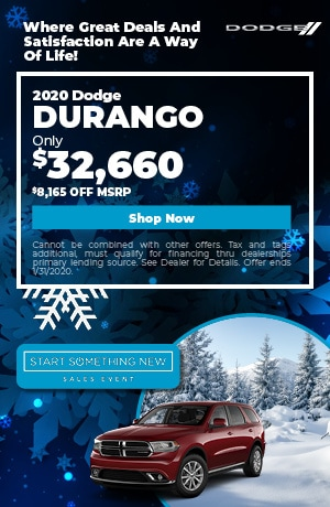 January | 2020 Dodge Durango | Discount