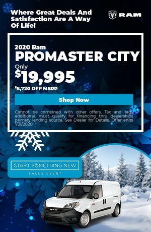 January | 2020 Ram Promaster City | Discount