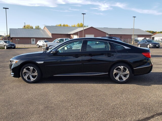Used 2018 Honda Accord EX-L with VIN 1HGCV1F51JA244826 for sale in Annandale, Minnesota