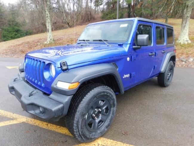 New 2019 Jeep Wrangler UNLIMITED SPORT 4X4 Sport Utility For Sale Clarksburg, West Virginia