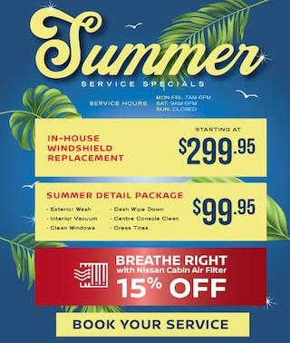 Summer Service Specials