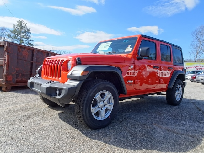 New 2019 Jeep Wrangler UNLIMITED SPORT S 4X4 Sport Utility for sale in Jackson, GA.