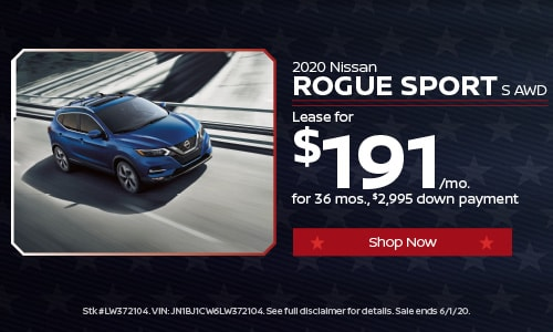 May Rogue Sport Lease Offer