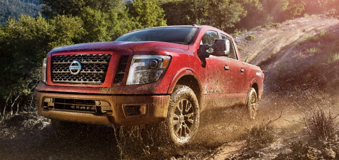 Nissan Titan Pro4X driving through the dirt