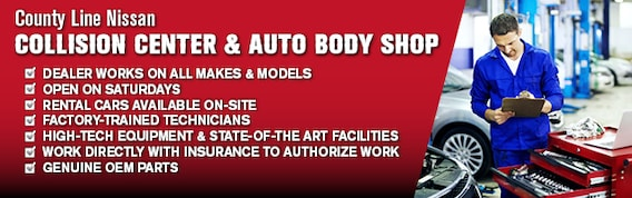 County Line Auto >> Auto Body Repair Middlebury Ct County Line Nissan