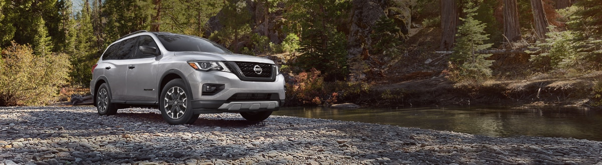 New Nissan Pathfinder by a river