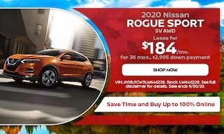 September 2020 Nissan Rogue Sport SV AWD Lease Offer