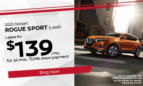 February Rogue Sport Lease Offer