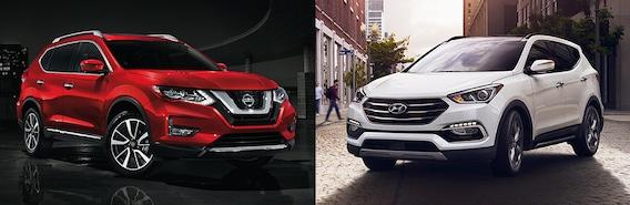 Nissan Rogue Vs Hyundai Santa Fe >> 2018 Nissan Rogue Vs 2018 Hyundai Santa Fe Sport