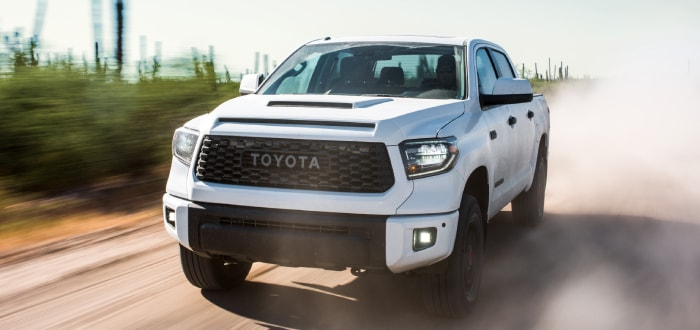 New Toyota Tundra on the road