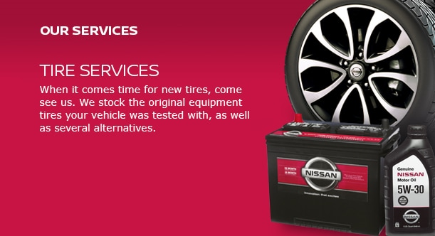Nissan tire service banner