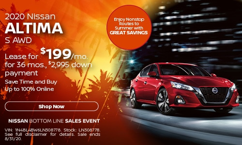 August Altima Lease Offer