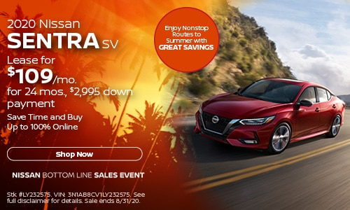 August Sentra Lease Offer
