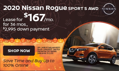 October Rogue Sport Lease Offer