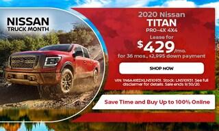 September 2020 Nissan Titan PRO-4X 4X4 Lease Offer