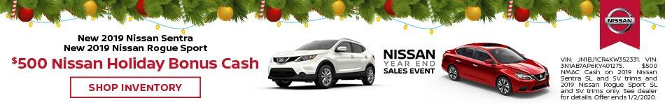 $500 Nissan Holiday Bonus Cash