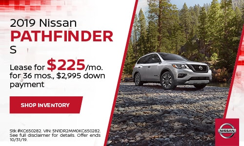 October Nissan Pathfinder Lease Offer