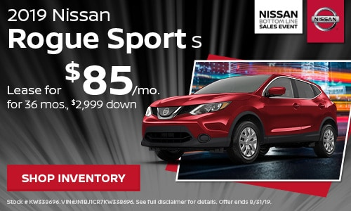August 2019 Nissan Rogue Sport Offer