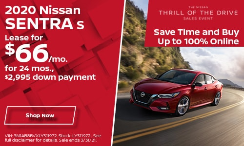 2020 Nissan Sentra S- March Lease Offer