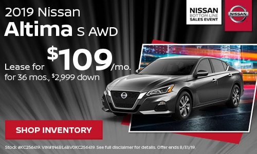 August 2019 Nissan Altima Offer