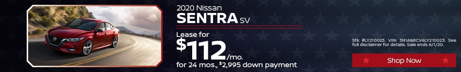 May Sentra Lease Offer