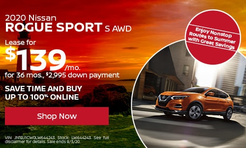 July Rogue Sport Lease Offer
