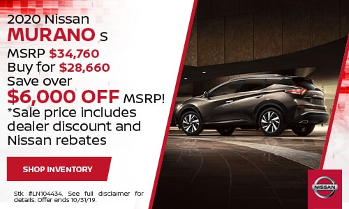 October Nissan Murano Purchase Offer