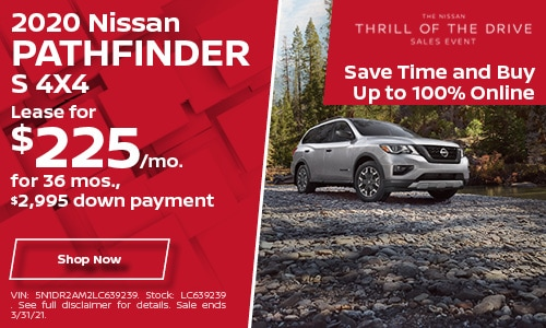 2020 Nissan Pathfinder S 4X4- March Lease Offer