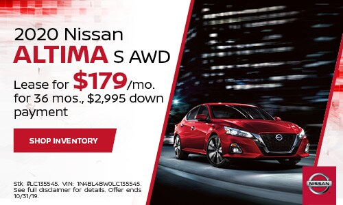 October Nissan Altima Lease Offer
