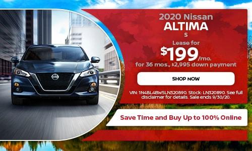 September 2020 Nissan Altima S Lease Offer