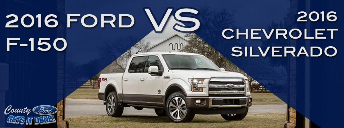 New 2016 Chevrolet Silverado vs. Ford F-150 | Price MPG Review
