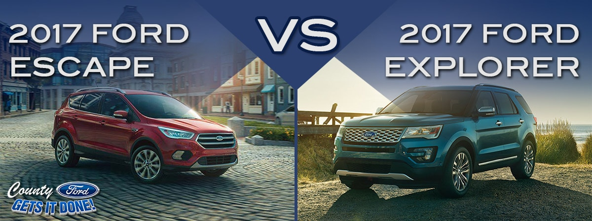 new 2017 ford escape vs 2017 ford explorer price mpg review. Black Bedroom Furniture Sets. Home Design Ideas