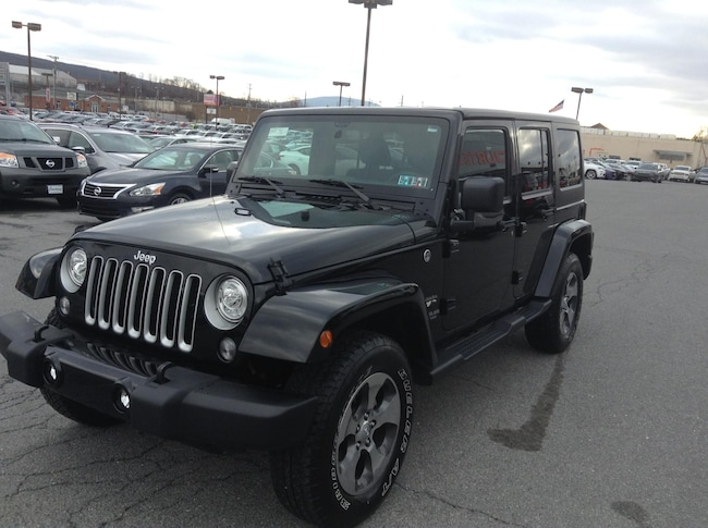 used 2017 jeep wrangler unlimited sahara 4x4 for sale altoona pa. Black Bedroom Furniture Sets. Home Design Ideas