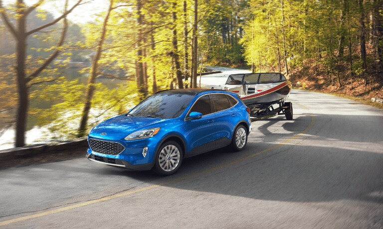 2020 Ford Escape Towing a Boat