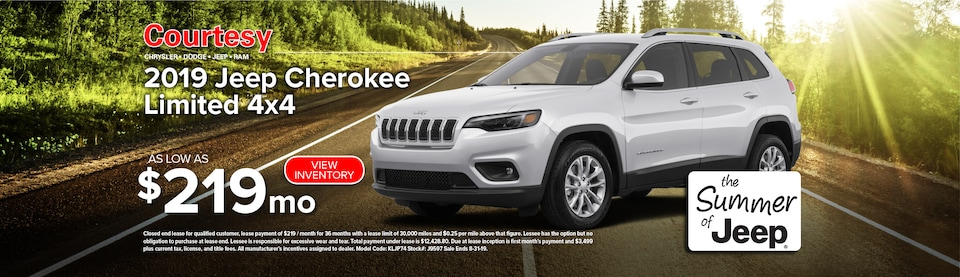 August Jeep Cherokee Lease Special