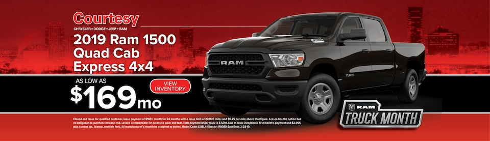 February Ram 1500 Lease Special
